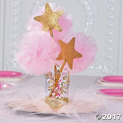 Pink & Gold Tulle Centerpiece Idea