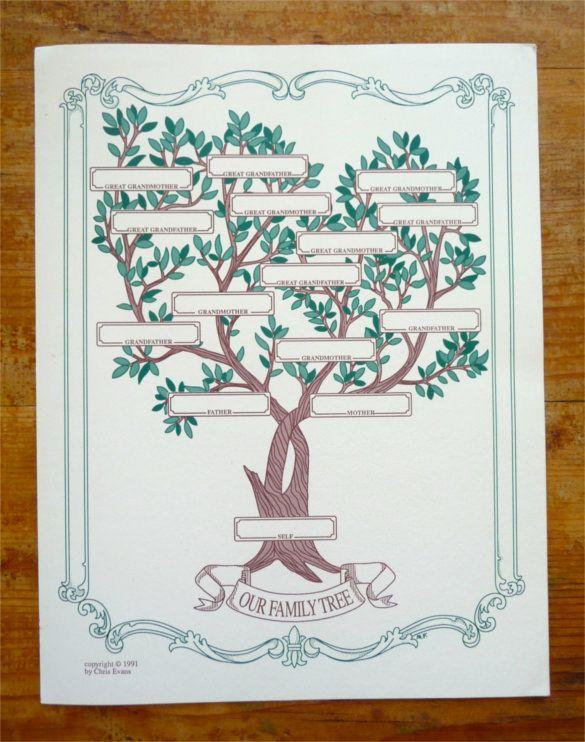 blank family tree template pdf