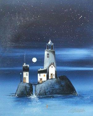 Gary Walton acrylic 'Lighthouse Dreams II'