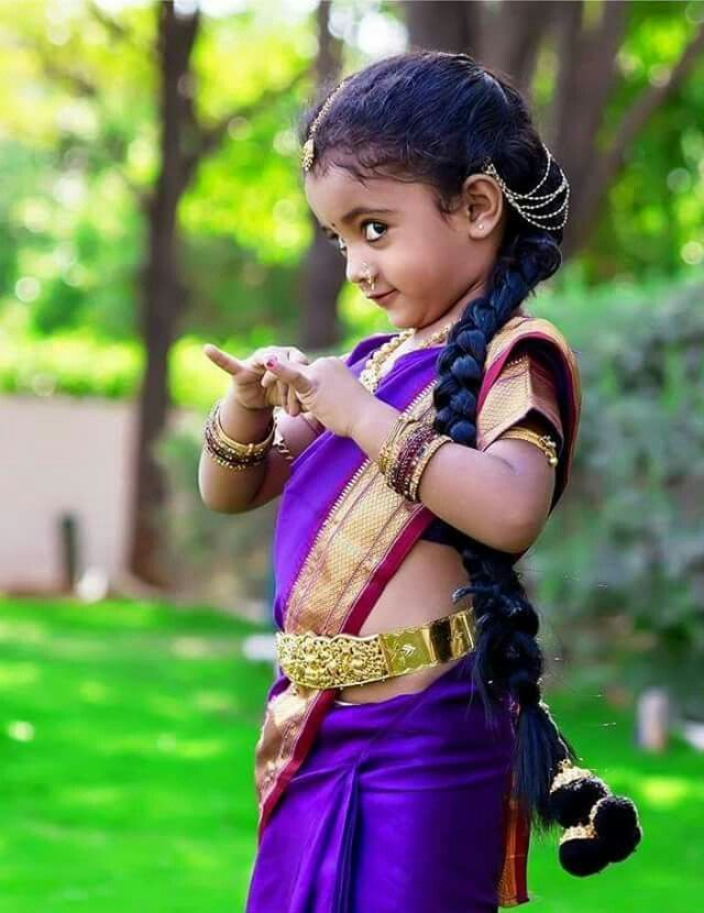 Cute Little Girl In Traditional Dress  Kids In -4379