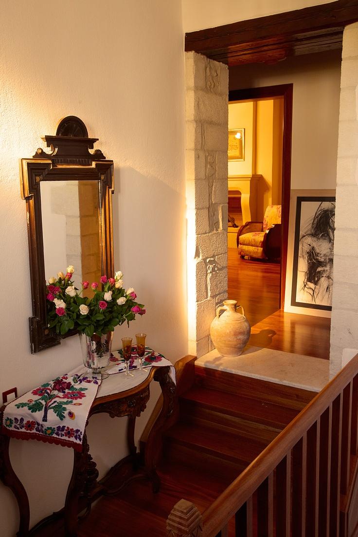 Villa Euphoria Rethymno Crete  Interior stairs  http://www.villa-crete.gr/
