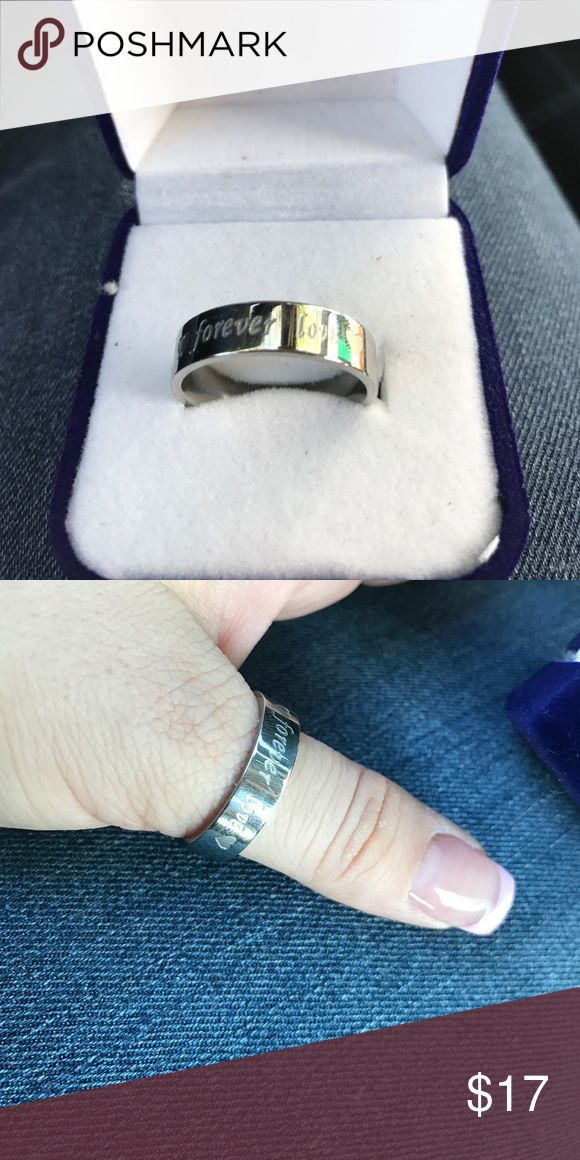Size 11 mens promise ring Size 11 mens promise ring. Never worn!! Bought it for my boyfriend it was to small!! Nice heavy durable ring. Jewelry Rings