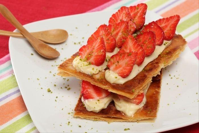 Photo de Recette de Mille-feuille vanille fraise