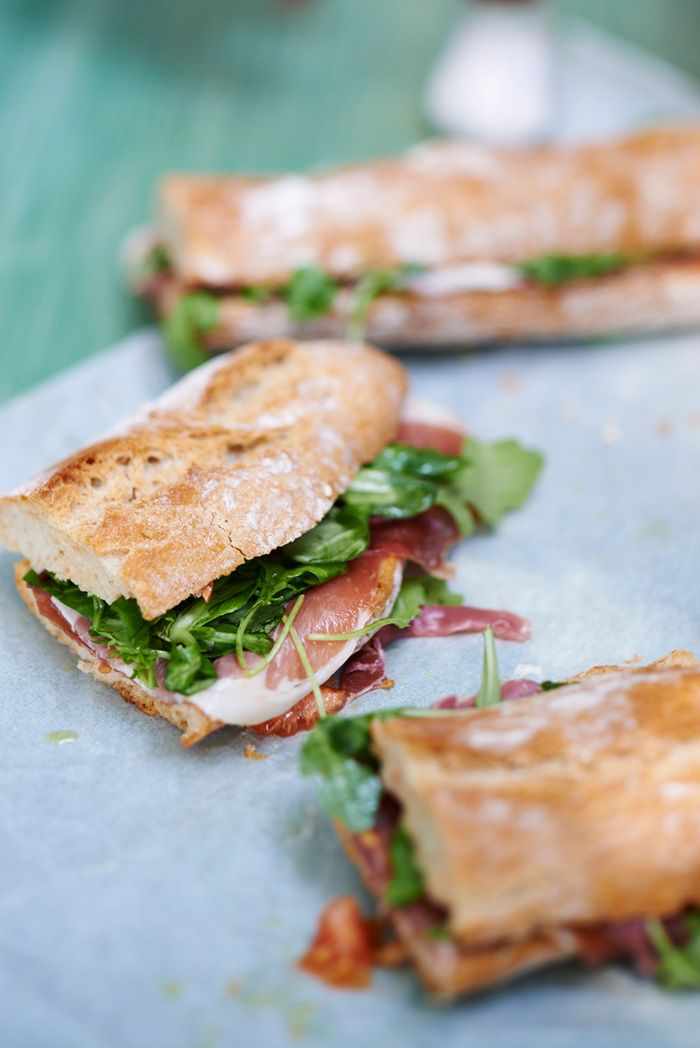 Proscuitto and Arugula on baguette DAVID MUNNS FOOD PHOTOGRAPHY