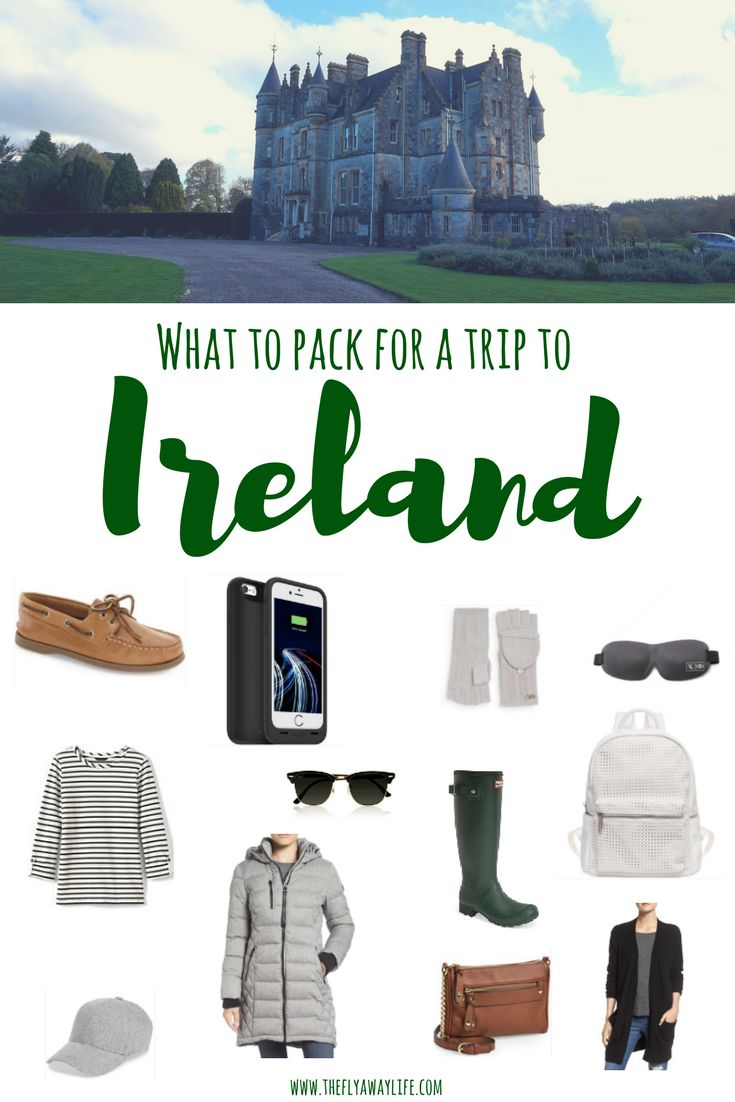 This is the Ultimate packing list for Ireland. This list will help you pack all the essentials for Ireland's unpredictable weather!