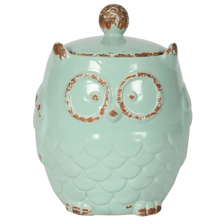 Small Blue Owl Canister   Metrostyle