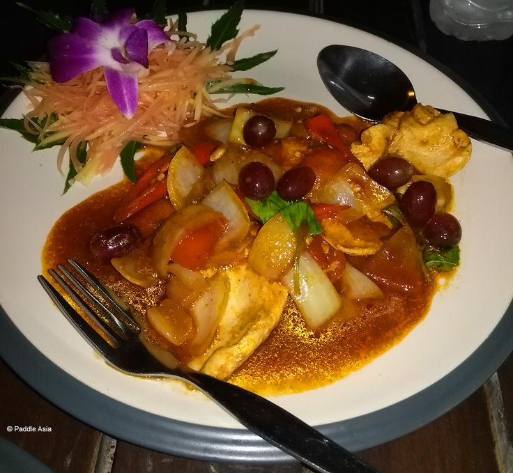 Pad Prik Gai (chicken with pepper in gravy)... they put grapes in this dish and it really added to the flavor.