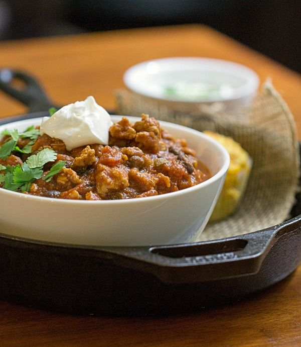 Turkey and Roasted Butternut Squash Chili - This Gal Cooks #soup # ...