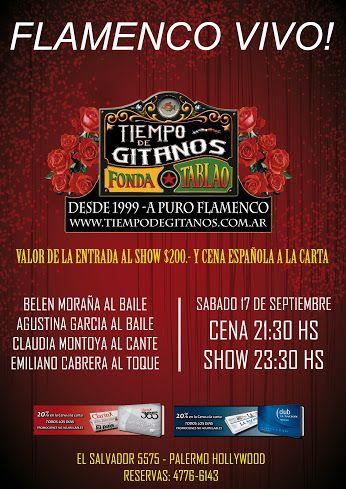 Te invitamos esta noche a disfrutar de un increíble show + la mas rica gastronomía española!! Reservas al 4776-6143