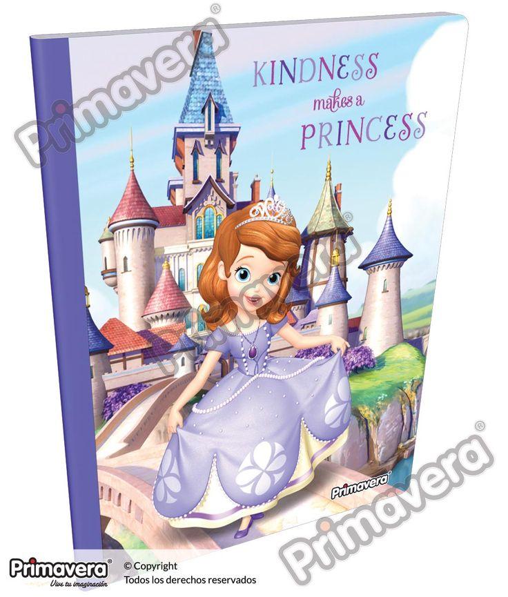Cuaderno Cosido Infantil Princesita Sofía http://escolar.papelesprimavera.com/product/cuaderno-cosido-infantil-sofia-primavera-4/