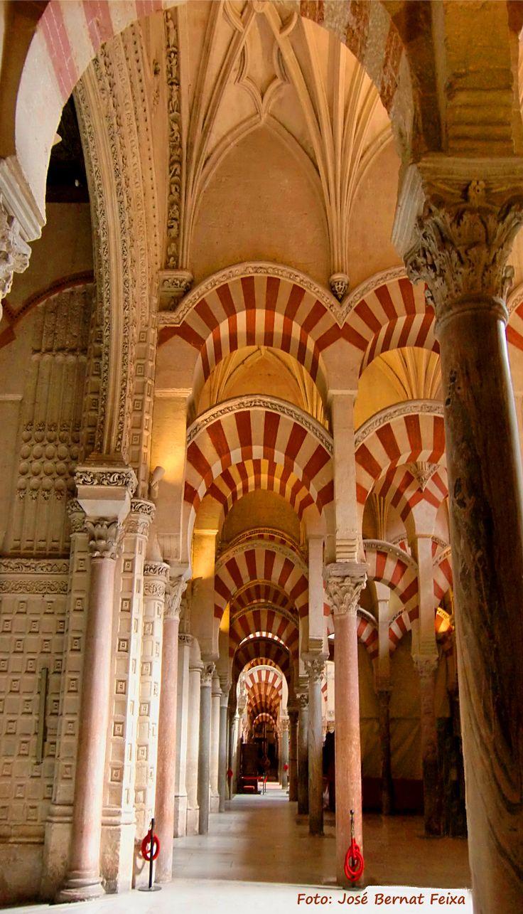 Kathedraal n moskee mezquita de c rdoba spanje - Mezquita de cordoba de noche ...