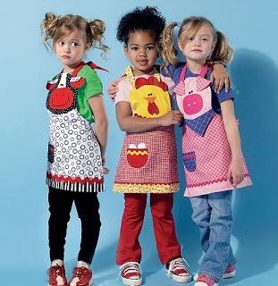 Diseños de mandiles para niños