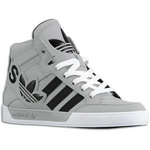 adidas Originals Hard Court Hi Big Logo - Sport Inspired - Shoes - Aluminum/ Black/White