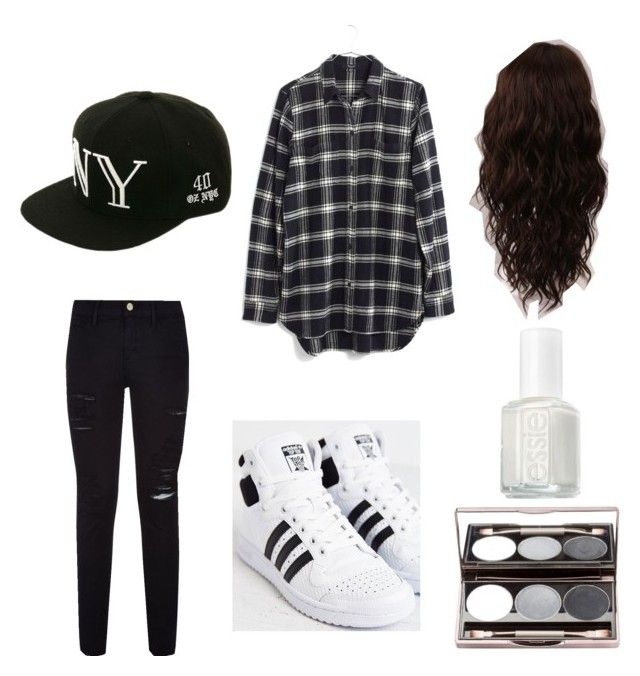 """""""#12"""" by sarah-e11 on Polyvore featuring adidas, Frame Denim, Madewell, Balmain, Essie and WigYouUp"""