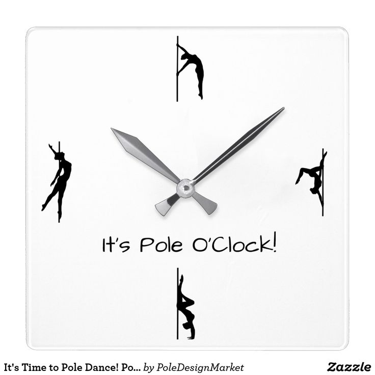 It's Time to Pole Dance! Pole Moves Wall Clock idea for decorating your home or your studio. #PoleFitness #PoleDance #PoleDesignMarket