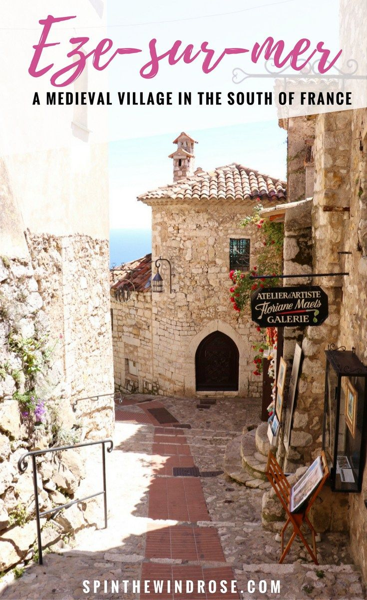 Known as the jewel of the French Riviera, Eze-sur-mer is a charming, medieval village - like something from a fairytale!