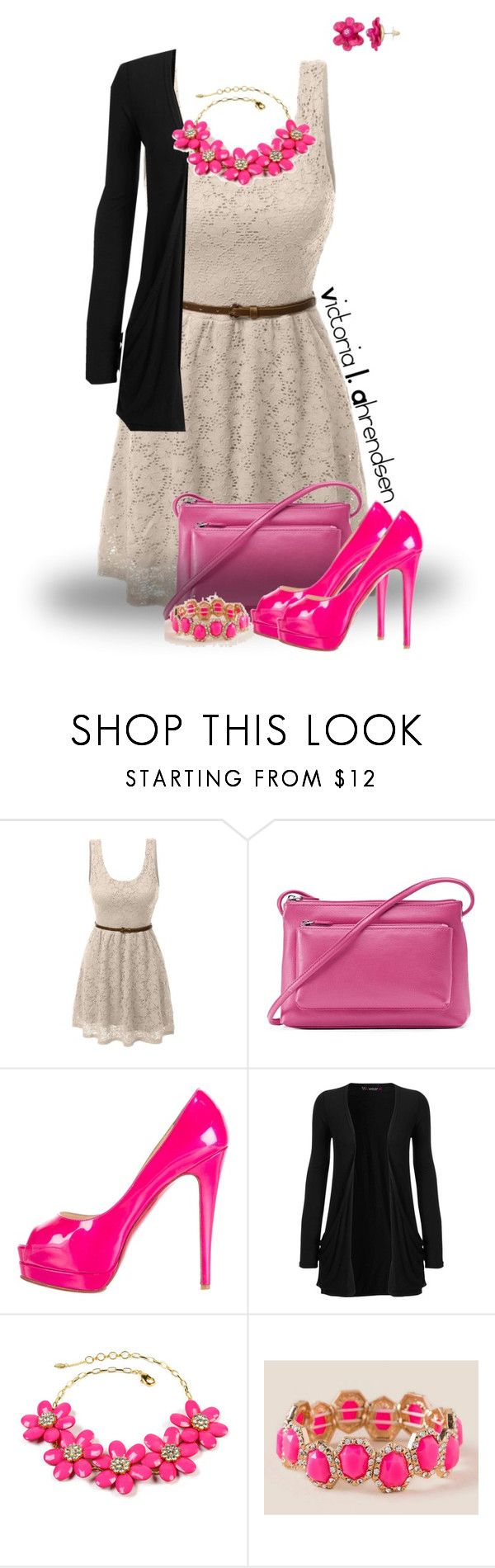 """""""Outfit Set #112! :-)"""" by vahrendsen1988 ❤ liked on Polyvore featuring LE3NO, ILI, Christian Louboutin, WearAll, Amrita Singh, Francesca's and Pink"""