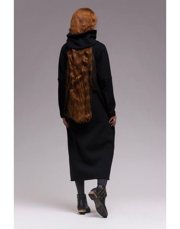 Платье длинное со съемным воротником