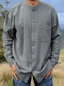 Traditional Grandfather Shirt SC491D Grey