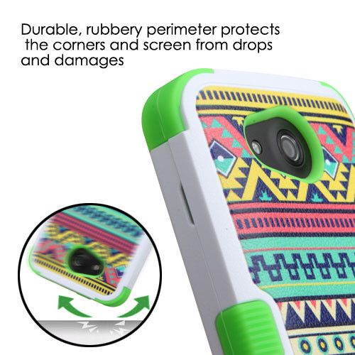 TUFF Hybrid Kyocera Hydro Wave Case - Tribal Sun/Green : Izzy phone ...