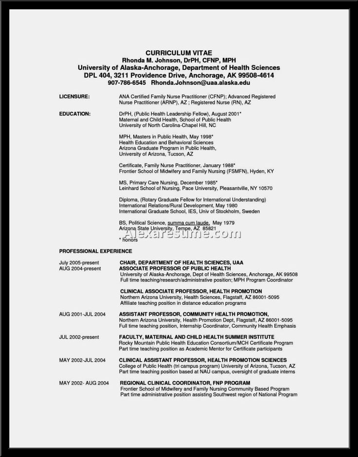 Nurse Practitioner Resume Examples Resume Template