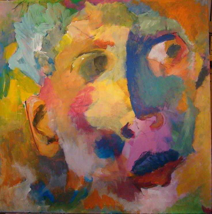 Evasion - acrylique sur toile (60 *60 cm) peinture de Aube VRBICA