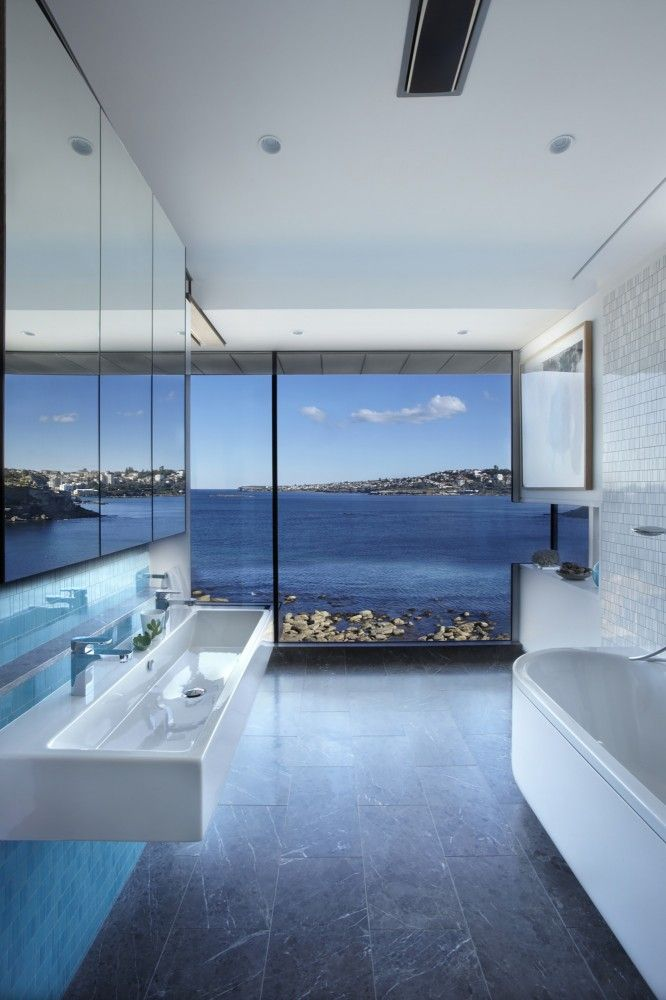 Attirant Bathroom With A View...Rolf Ockert Design