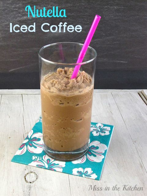 Nutella Iced Coffee from Miss in the Kitchen #coffee. Just so that everyone I know can enjoy a little piece of heaven.