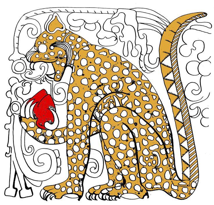 Mayan Jaguar: 298 Best Aztec/Mayan Symbols Images On Pinterest