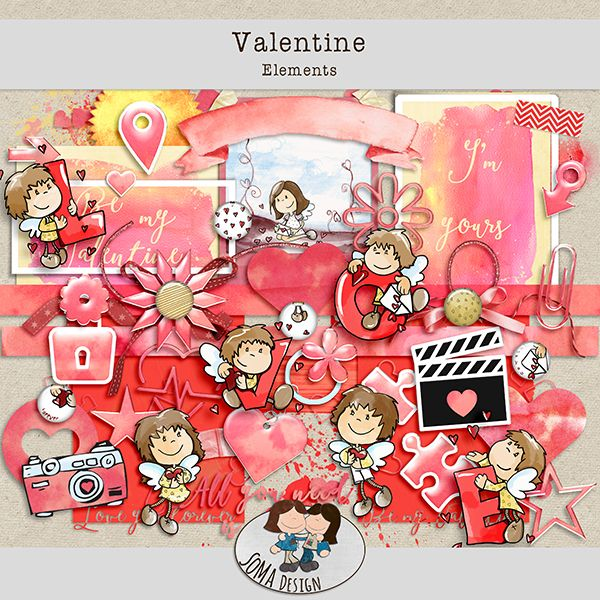 Oscraps.com :: Shop by Category :: All New :: SoMaDesign Valentine Kit