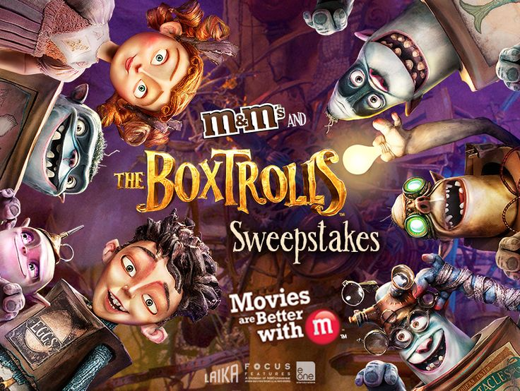 Check out the M&M'S® & Boxtrolls Sweepstakes For a chance to WIN* free private movie screening for you and 10 friends. Why? MOVIES ARE BETTER WITH M™