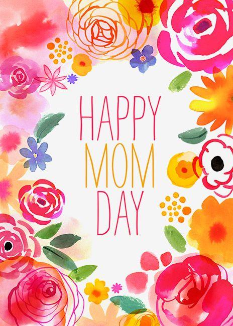 Margaret Berg Art: Pink+Yellow+Border+Mom+Day
