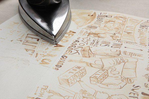 Творческая идея: рисование молоком  Если на листе бумаги написать или нарисовать что-нибудь молоком, а потом через 30 минут прогладить просохшую бумагу утюгом, то невидимое до этого изображение проявитсяhttp://cs543103.vk.me/v543103152/2158f/_yw9rErCBQw.jpg