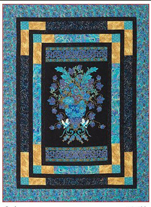 "PANEL PATTERN QUILTS.........PC...........Quit Pattern - Mountainpeek Creations - Bevels - Finished size:  53 1/2"" x 71 1/2"""