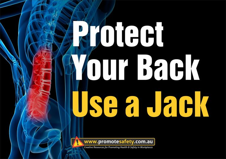 Workplace Safety and Health Slogan - Protect Your Back Use a Jack