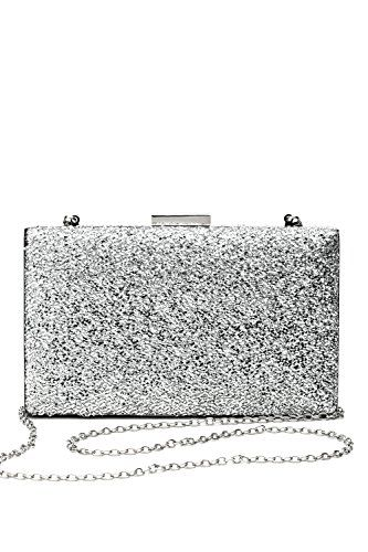 New Trending Purses: Women Clutch Purse Wallet Hard Case Evening Bag Glitter Handbag With Chain Strap (silver). Women Clutch Purse Wallet Hard Case Evening Bag Glitter Handbag With Chain Strap (silver)   Special Offer: $16.00      155 Reviews This shiny minaudiere clutch with a rectangular body will make great addition to your festive wardrobe and become a perfect accessory for your party / cocktail...