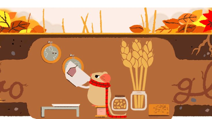 Autumn equinox 2017 Google doodle returns mouse featured the 1st day of spring & summer http://ift.tt/2jQc0Y6