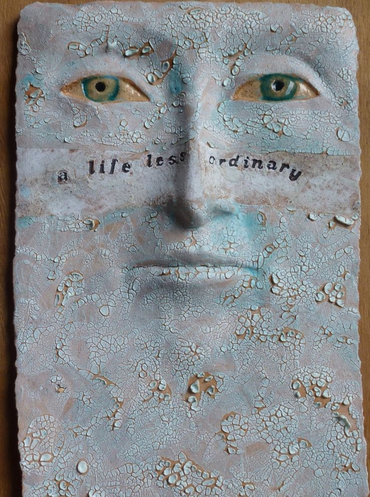 CUSTOM wall sculpture - ceramic face, unique wall art, ceramic sculpture, inspirational quote art by Louise Fulton Studio by LouiseFultonStudio on Etsy#ceramics #contemporarycraft #handmade #sculpture #customsculpture