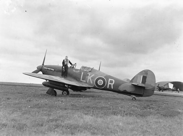 Sergeant B Bawden and Hurricane Mk IIC code LK-R HL865 Night Duty of No 87 Squadron at Charmy Down 2 September 1942