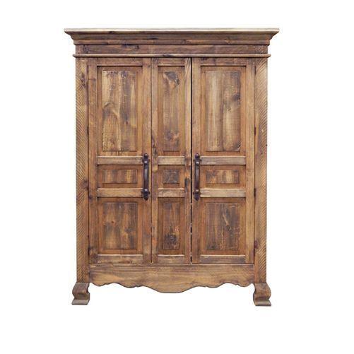 "BurlesonHomeFurnishings  Rustic 2 Door Reclaimed Look Walnut Finish Armoire Western Lodge Cabin Real Wood  2 DOOR ROUGH CUT RECLAIMED LOOK WALNUT TV ARMOIRE  Item ID #01-2-15-60-ARMOIRE  W63"" x H79"" x D29""  Description: Beautiful rustic rough c..."