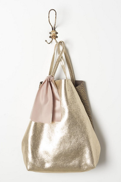 Hammered Gold Tote / Anthropologie tote