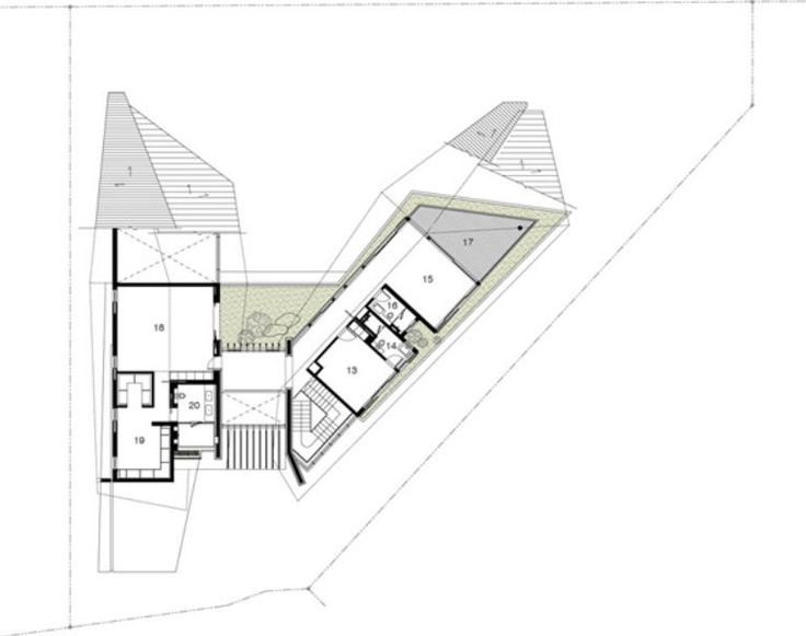 Design houses two floors in Land Trapezoid
