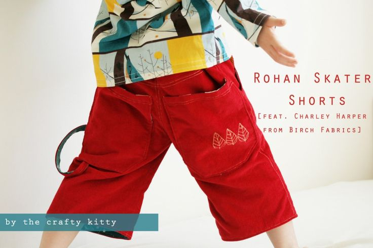 The Crafty Kitty | Rohan Skater Shorts Tutorial--Free Pattern included for sizes 2-6. So cute and flannel lined!