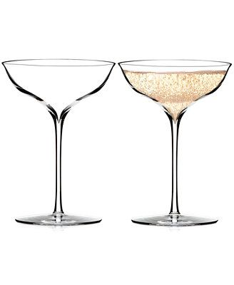 Waterford Elegance Champagne Belle Coupe Pair || toasting glasses