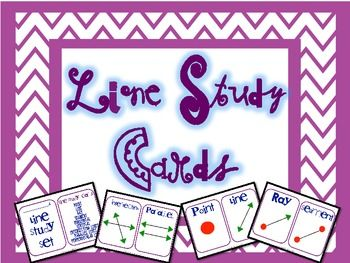 A set of geometry lines study cards and a fun activity for your students to use to practice their line study!  Common Core Aligned. FREE!