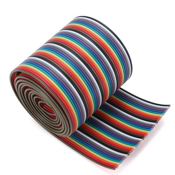 1M 3.3ft 40 Way 40 Pin Flat Color Rainbow Ribbon IDC Wire Rainbow Cable
