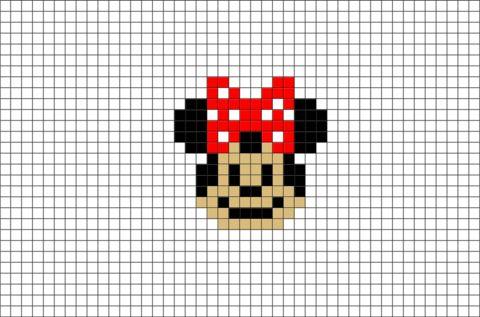 Minnie Mouse Pixel Art Brik Pixel Art Designs Pixel Art Pixel