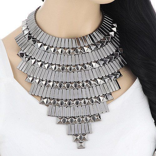 Cleopatra Metal Statement Choker Necklace