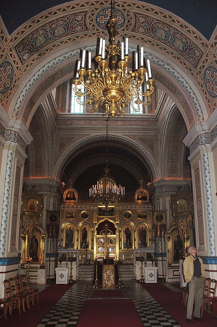 Interior of Orthodox Church in Tampere, Finland