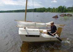 Ocean Explorer.  8ft sailboat with sleeping cabin!
